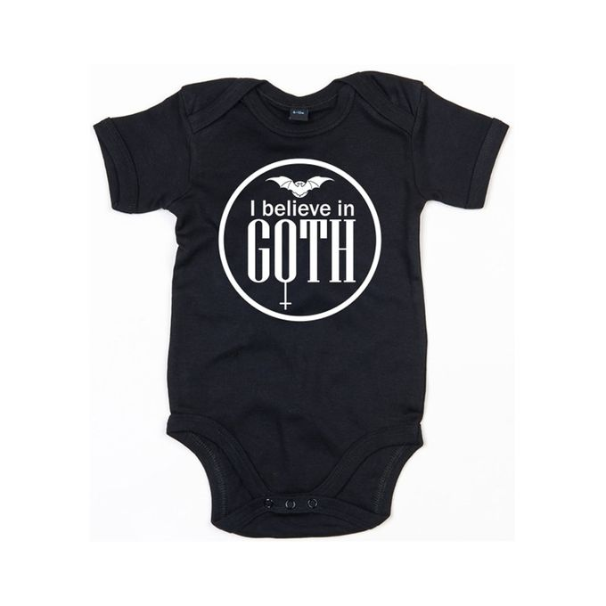 Baby Body mit I believe in Goth Print