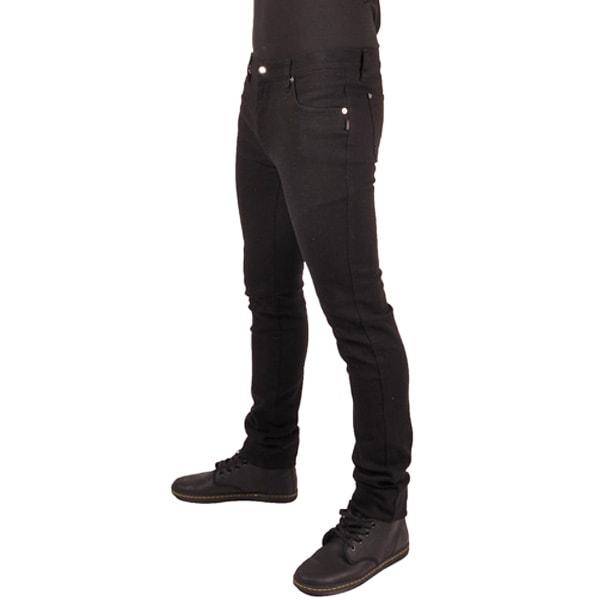 BASIC JEANS: schwarze Basic Jeans, Retro Style