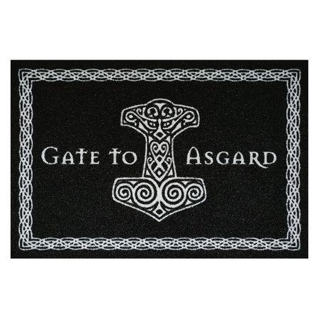 Türvorleger - GATE TO ASGARD: schwarze Fußmatte