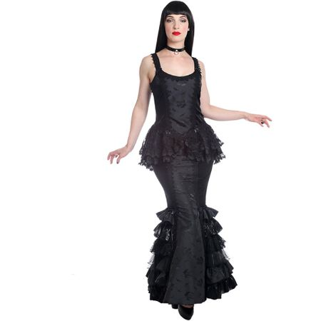 MERMAID SKIRT: langer Gothic Rock aus Samt