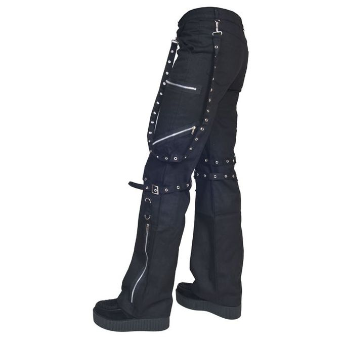 ANDY PANT: Gothic Bondage Hose mit Reißverschlüssen