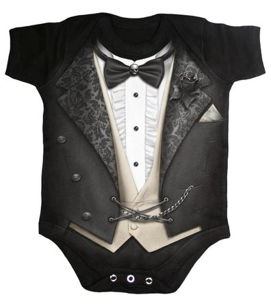 Tuxed Baby Body Anzugdesign