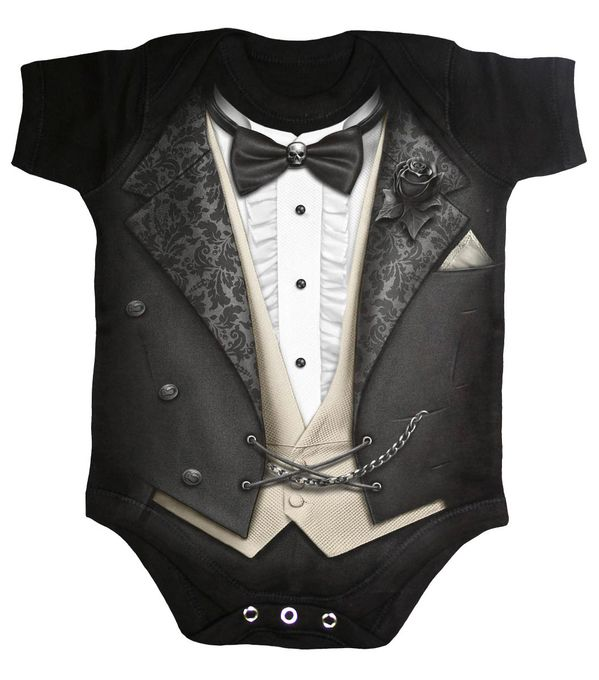 Tuxed Baby Body Anzugdesign 001