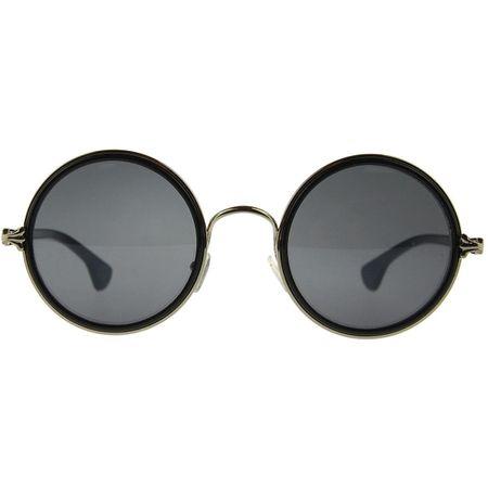 Sonnenbrille mit großen runden Gläsern