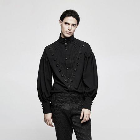 REGENT SHIRT: langes Gothic Shirt mit weiten Ärmeln