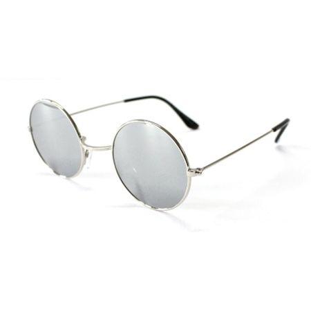 Gothic Sonnenbrille mit silbernen verspiegelten Gläsern