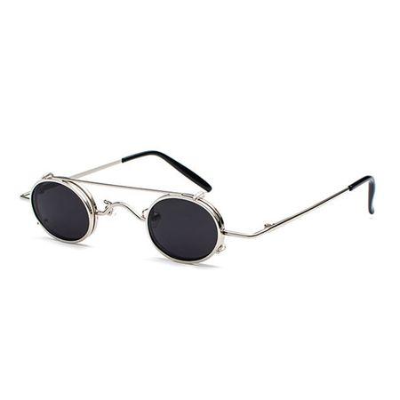 BLACK GOTHIC VAMPIRE: Sonnenbrille mit kleinen, ovalen Gläsern