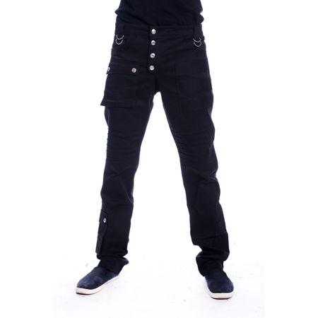 CAMERON PANTS: schwarze Herrenhose