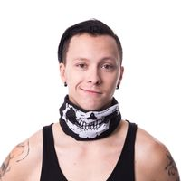 3-in-1 - SNOOD WHITE: Bandana, Kopftuch, Schal