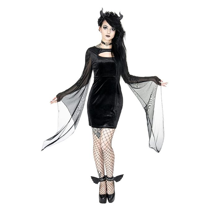 SALEM DRESS: kurzes Samtkleid