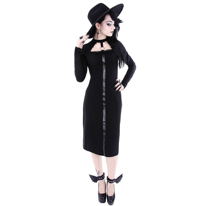 SCARLETT DRESS: langärmeliges Gothic Kleid