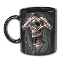BONE FINGER: schwarzes 2er Set Tassen mit Reaper