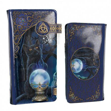 The Witches Apprentice ist ein großes Relief Portemonnaie mit einer schwarzen Katze auf der Vorder- und Rückseite.