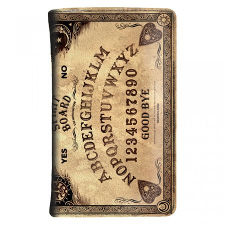 SPIRIT BOARD SMALL: Portemonnaie in Ouija-Brett-Optik mit vielen Fächern