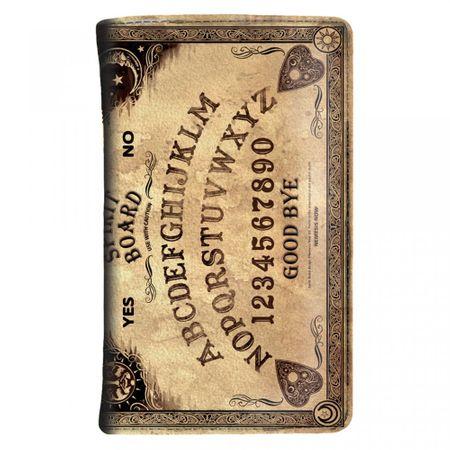 SPIRIT BOARD SMALL: Portemonnaie in Ouija-Brett-Optik mit vielen Fächern