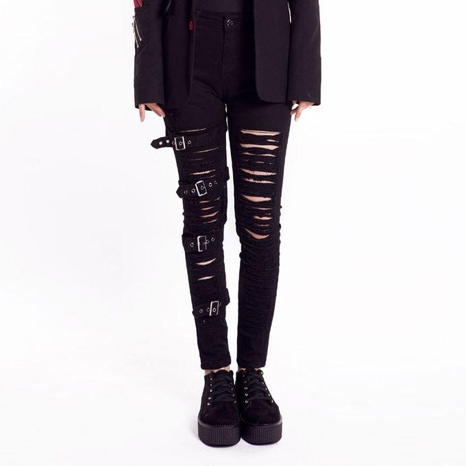 Beggar Pants - Gothic Damen Hose im Punk Style