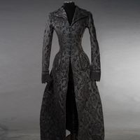 BLACK BROCADE IVES COAT: Damen Brokat Mantel – Bild 2
