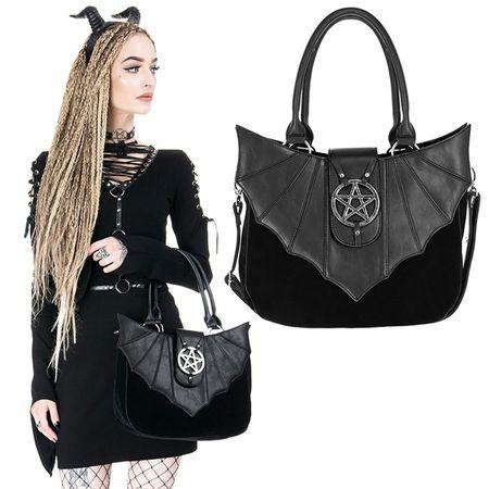 OMINOUS BAG: Gothic Handtasche mit Pentagramm