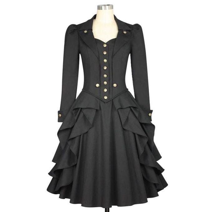 Plus Size Black Steampunk Dress