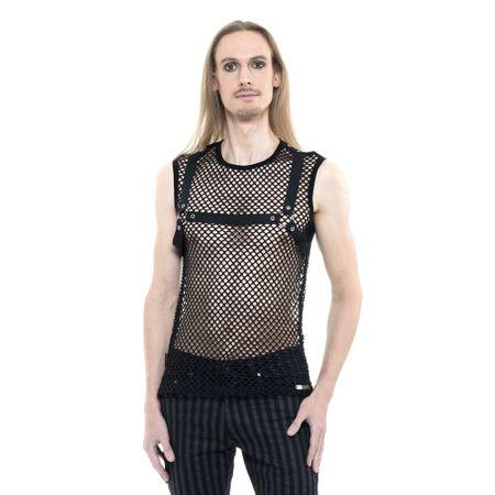 VICTORIANA TOP: Netzshirt mit Bondages