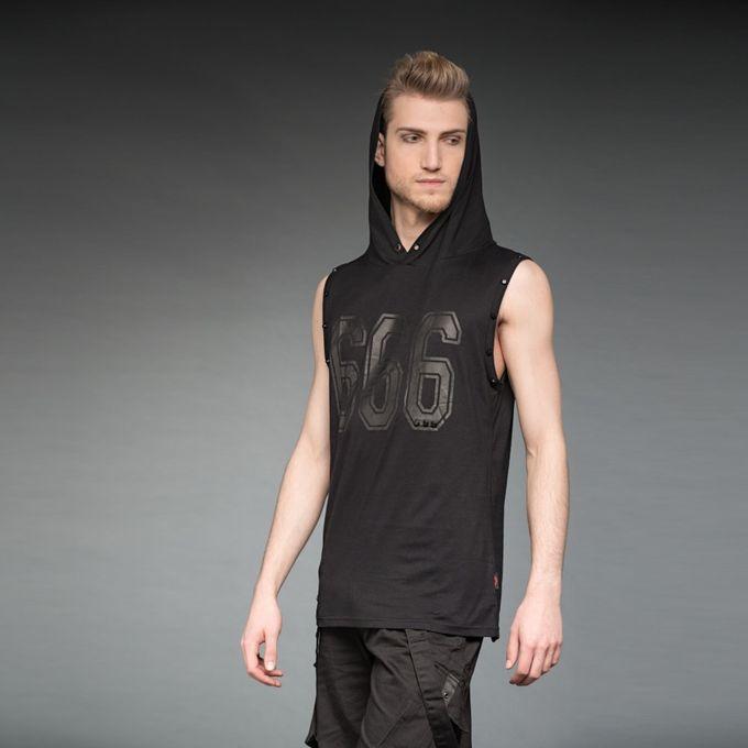 THE 666: ärmelloses Herren Shirt mit Kapuze