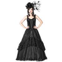 LACE ROMANCE DRESS: langes ärmelloses Gothic Ballkleid – Bild 2