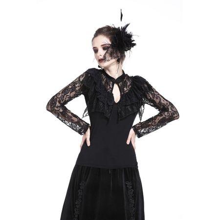 LAYERED LACE TOP: langarm Gothic Shirt