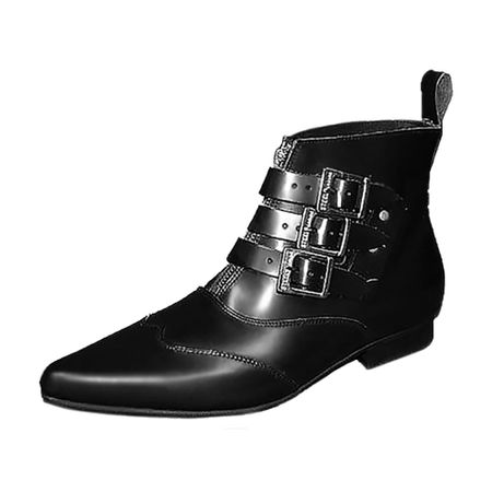BLACK GRAIN LEATHER DENMARK BOOT
