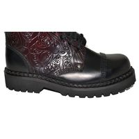 Ranger Boots with Black and Burgundy Flowers – Bild 4