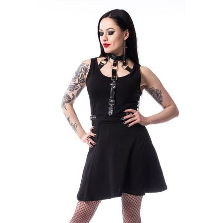 HILDA DRESS: ärmelloses Kleid mit integriertem Halsband