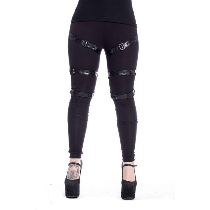 Midnight Leggings - stylische Gothic Damen Leggings mit Bondages und Schnürung
