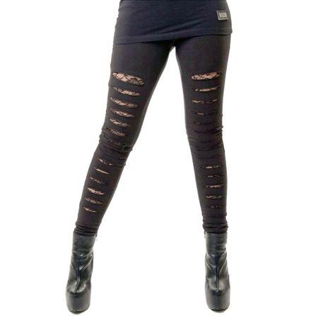 SLASHER LEGGINGS: Leggings mit Rissen und Spitze