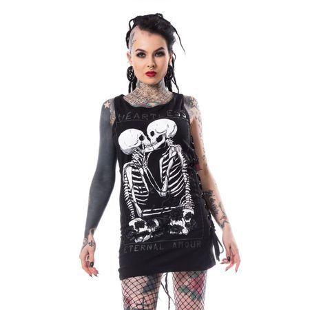 KATI TOP: ärmelloses Mini Kleid mit Trägern und Prints