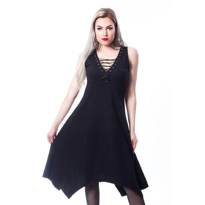 MORA DRESS: ärmelloses sommerliches Kleid mit Schnürung