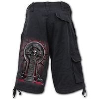 Vintage Cargo Shorts Black: Bleeding Souls – Bild 2