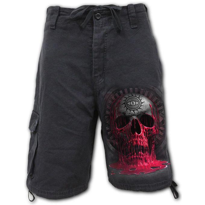 Vintage Cargo Shorts Black: Bleeding Souls