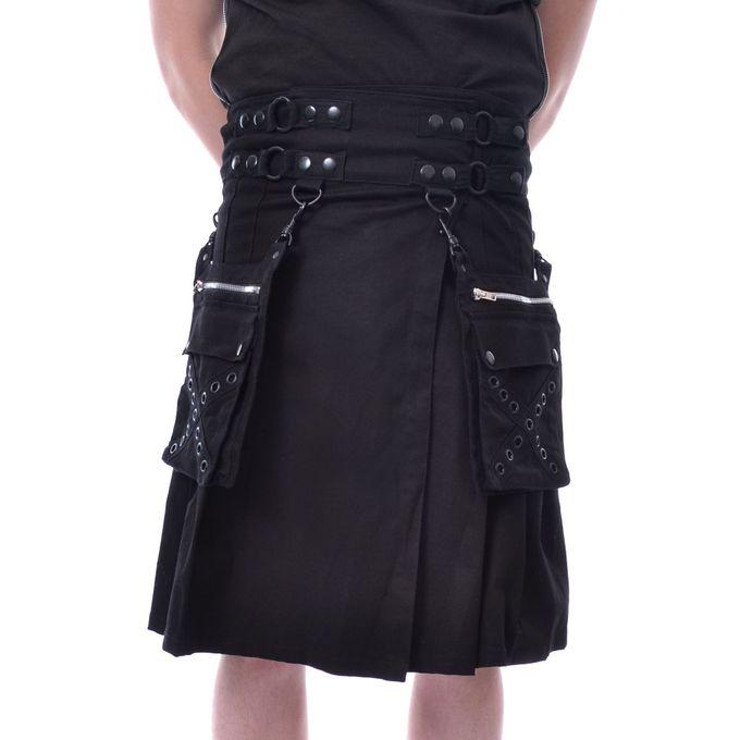 CATO KILT BLACK: schwarzer Kilt
