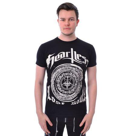 HEARTLESS SOULS T: schwarzes Shirt mit weißem Heartless und Lost Souls Print