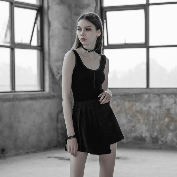 Kira Skirt - Gothic Falten Minirock