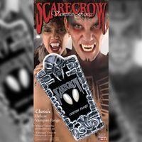 Classic Deluxe Vampire Fangs sind klassische Vampir Zähne zum Ankleben mit einem Anpassungs-Set in Zahnarzt-Qualität inklusive.