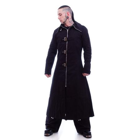 HIGHWAYMAN FULL LENGHT COAT: langer Mantel mit Schnallen