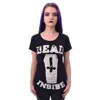 DEAD INSIDE - bedrucktes klassisches T-Shirt – Bild 1