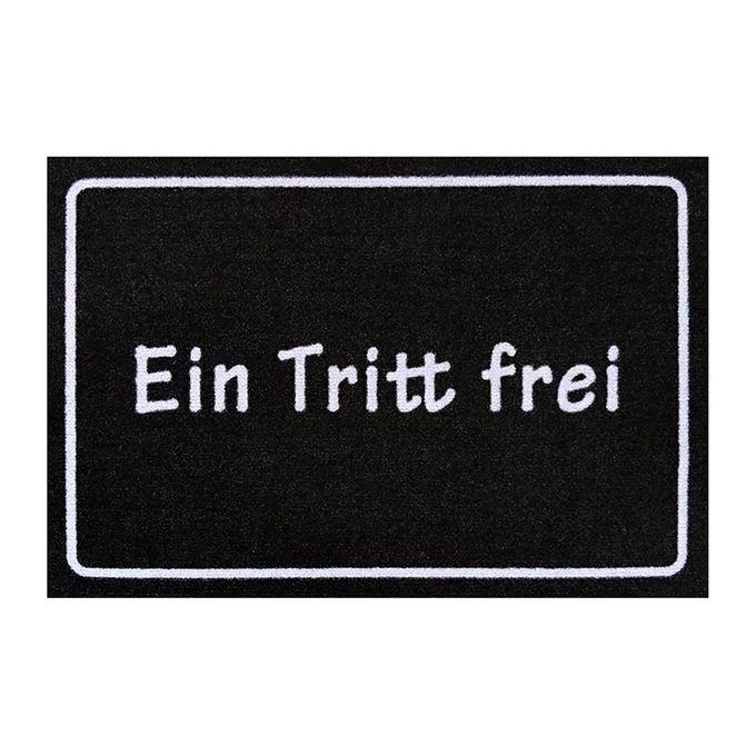 EIN TRITT FREI: schwarzer Fußabtreter