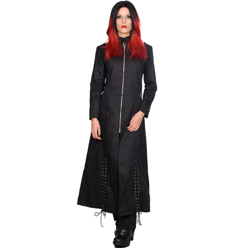 Ladies Ring Coat - Mantel mit Schnürungen, Ringen, Bondages