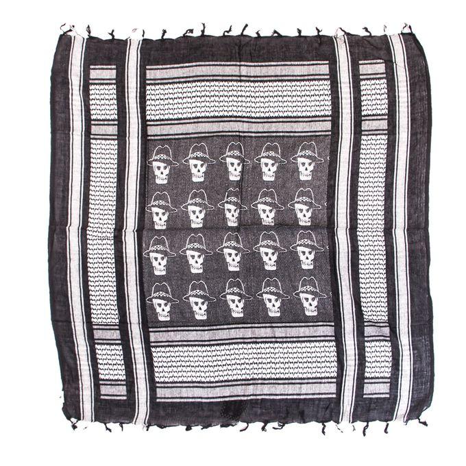 Boots & Braces SHEMAG Tuch in schwarz-weiß mit Skulls
