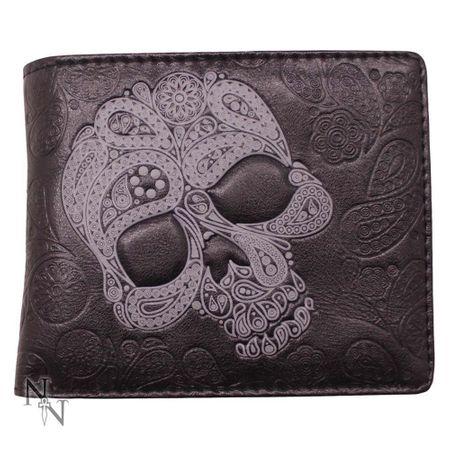 ABSTRACT SKULL - Brieftasche mit Totenkopf