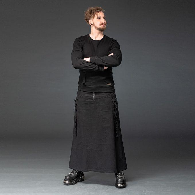 Gothic Herren Rock mit Seitentaschen