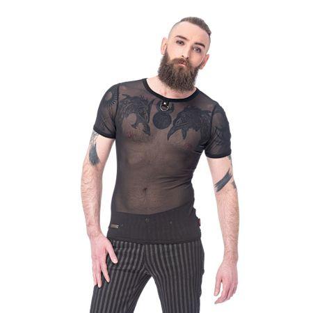 Gothic Netz Shirt mit D-Ring