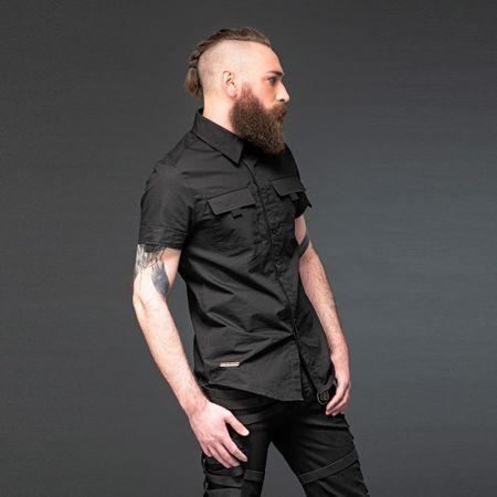 schwarzes Herren Hemd im Military Style