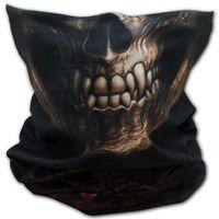 Goth Skull Face Wrap: Loop-Schal mit Skull-Print